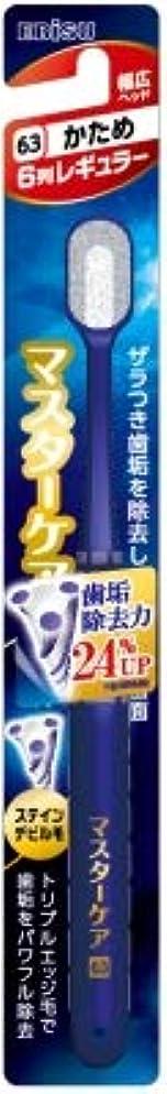余韻不実危険【まとめ買い】マスターケアハブラシ?6列レギュラー かため ×6個