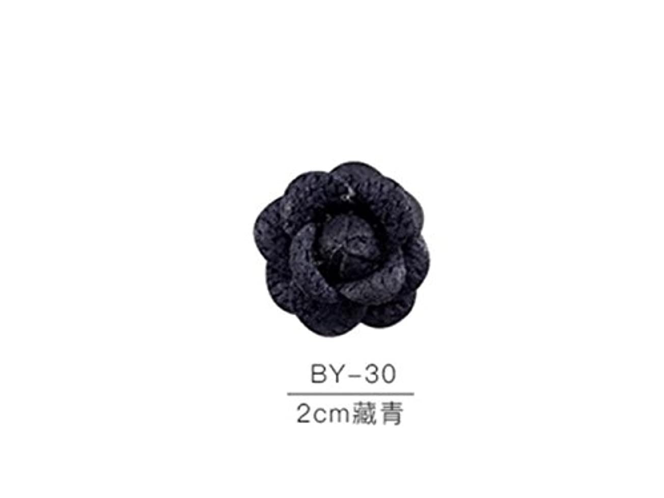 品種ブラウズスチュアート島Osize カラフルネイルアート樹脂布カメリアネイルジュエリーファブリックネイルアートデコレーションネイルステッカー(ネイビー)