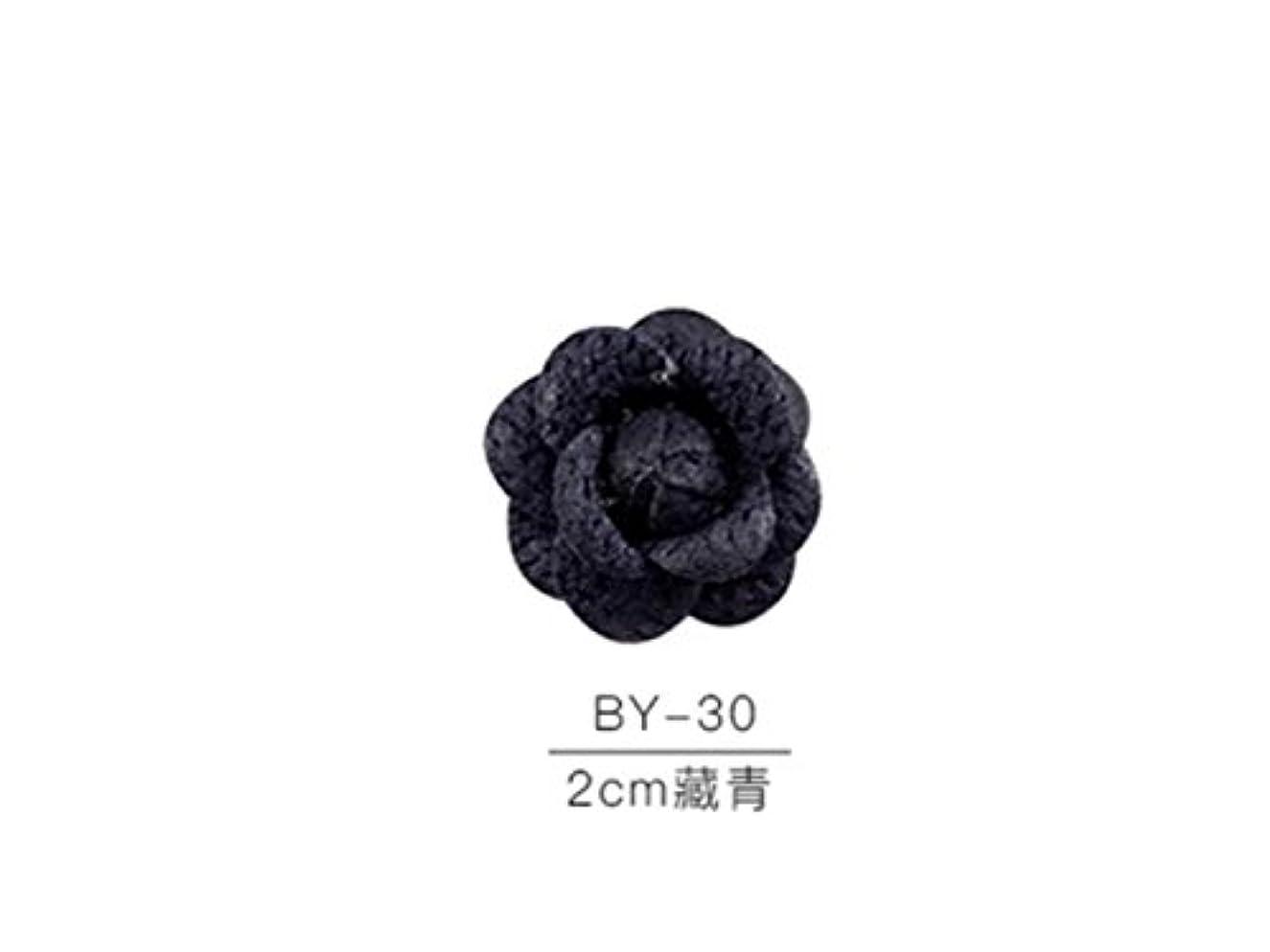 Osize カラフルネイルアート樹脂布カメリアネイルジュエリーファブリックネイルアートデコレーションネイルステッカー(ネイビー)
