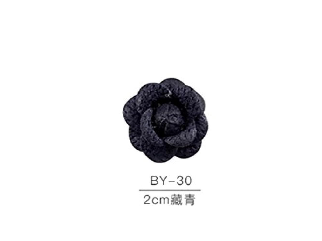 連合グラフィックスーツケースOsize カラフルネイルアート樹脂布カメリアネイルジュエリーファブリックネイルアートデコレーションネイルステッカー(ネイビー)