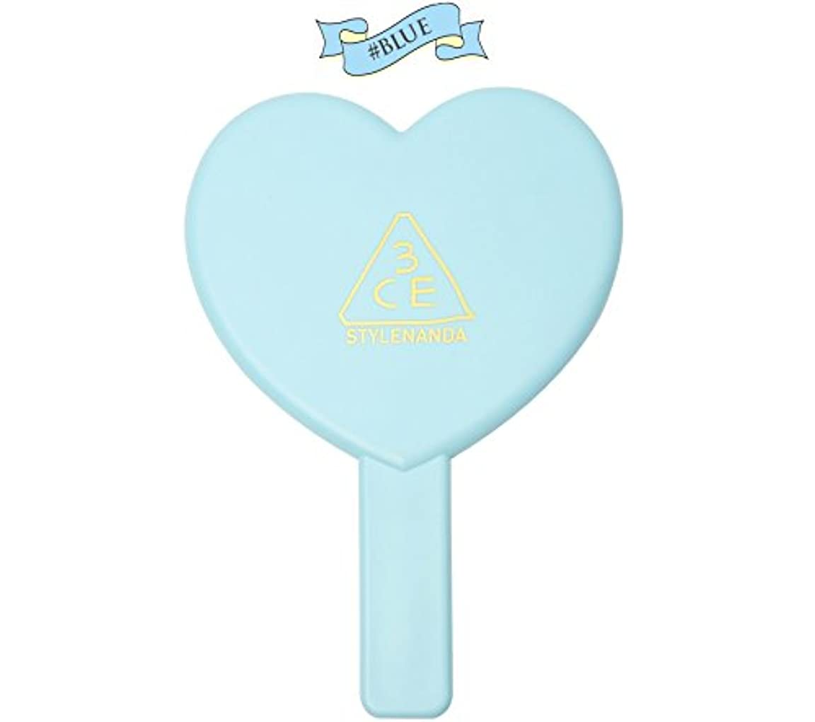 広々メルボルン自然公園3CE LOVE 3CE HEART HAND MIRROR (BLUE) / ラブ3CEハート?ハンド?ミラー (ブルー)[並行輸入品]