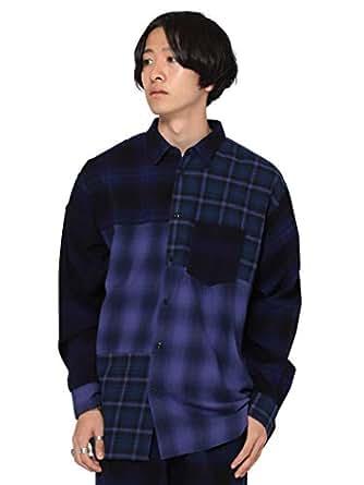 (ビームス)BEAMS/カジュアルシャツ ボタンダウン クレイジー チェック シャツ メンズ PURPLE S
