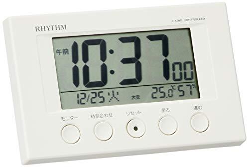 目覚まし時計 電波時計 温度計・湿度計付き フィットウェーブ...