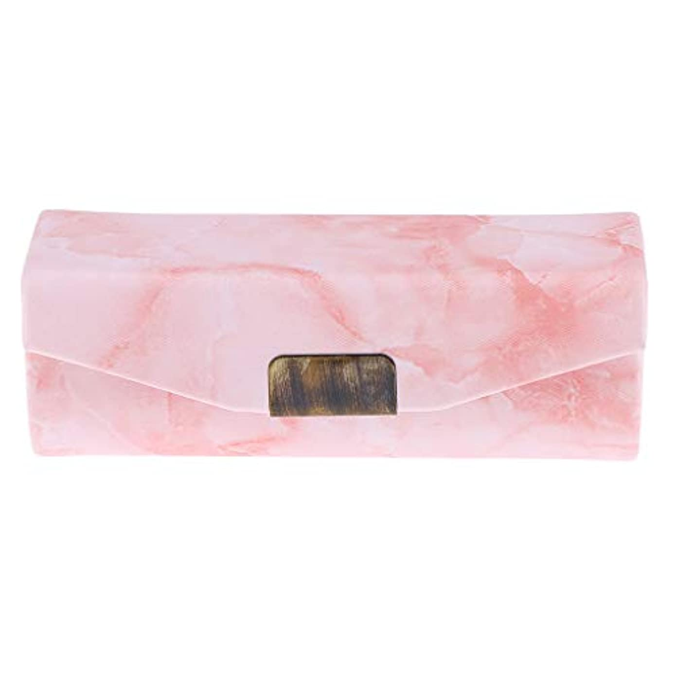 かどうか古代シュリンクリップスティックケース ミラー付き 口紅 コインケース 小物入り 実用的 6色選べ - オレンジピンク