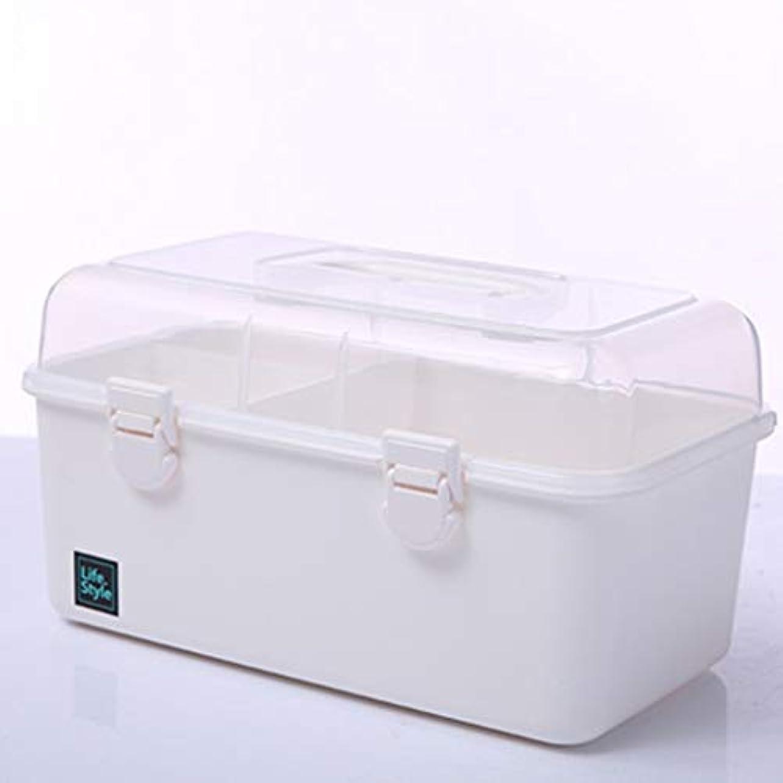伝説強化カバレッジ緊急用バッグ 赤ちゃん薬箱薬収納ボックス多層ホーム応急処置キット5色がご利用いただけます HMMSP (Color : Clear)