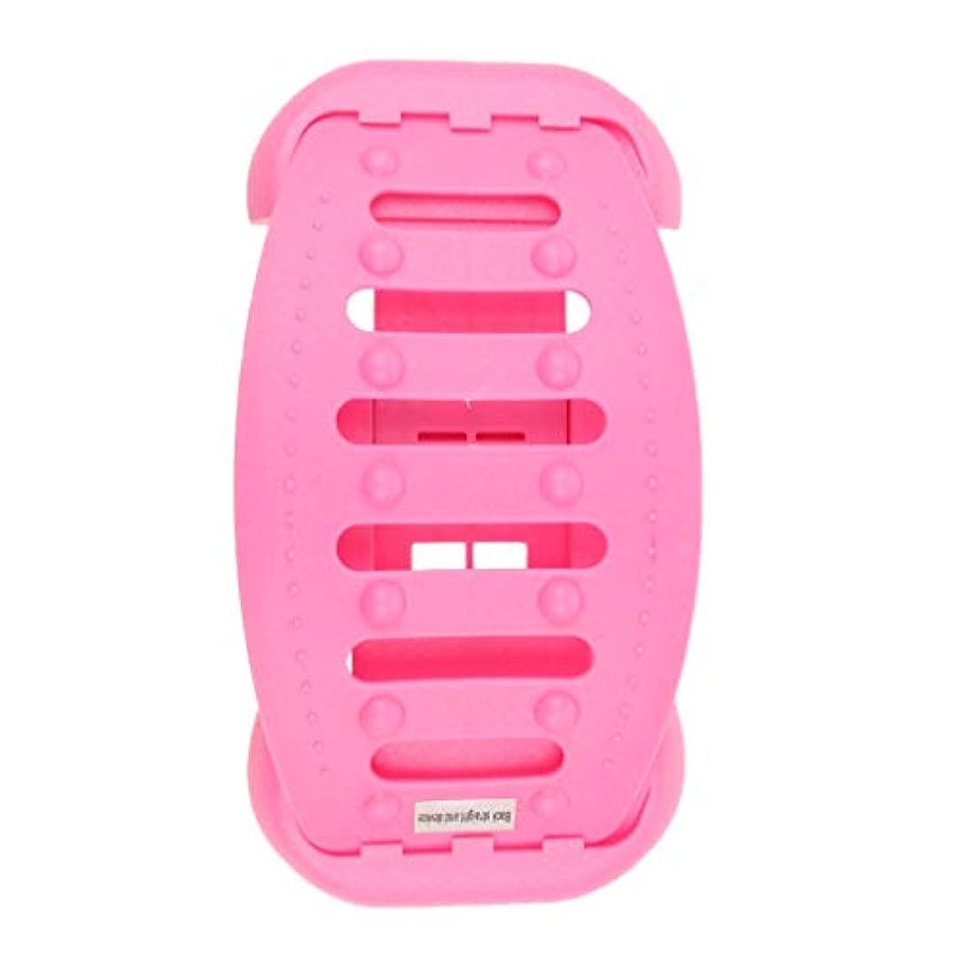教科書確保するクライマックスバックストレッチャー 背中 ストレッチャー ストレッチ装置 サポート 高重量容量 全2色 - ピンク