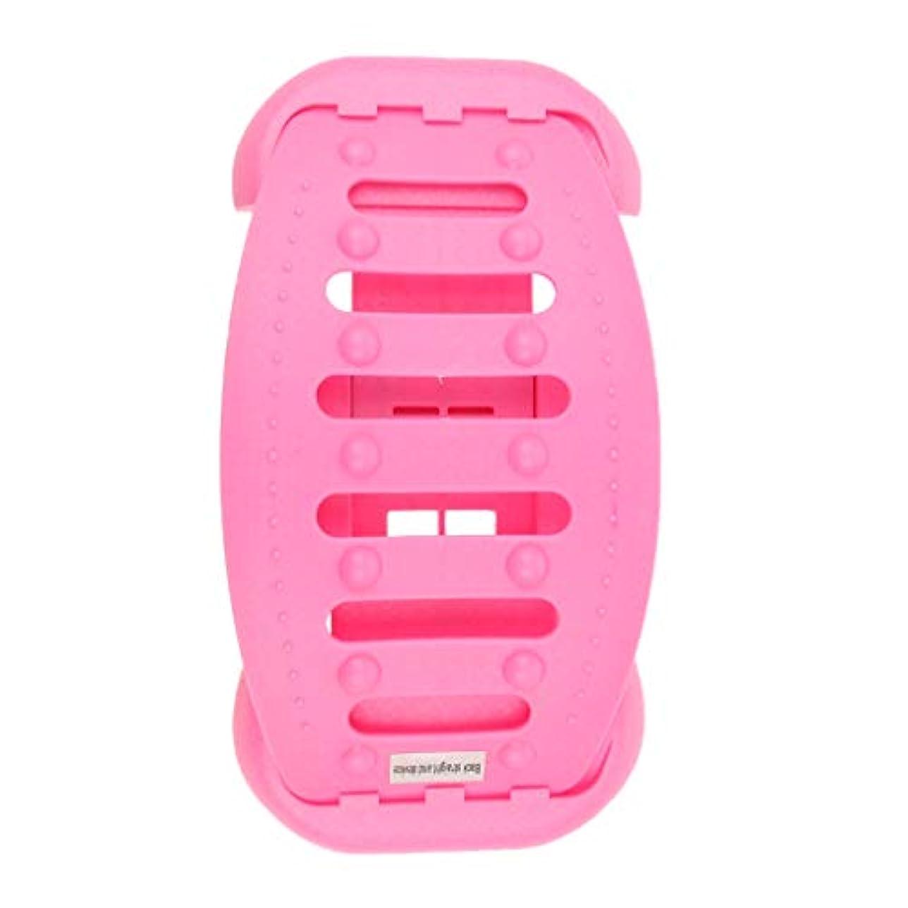 除外する構築する選挙バックストレッチャー 背中 ストレッチャー ストレッチ装置 サポート 高重量容量 全2色 - ピンク