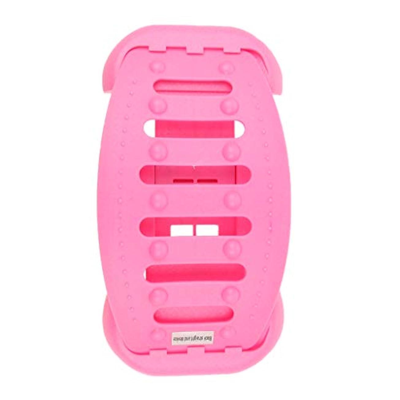 トラップ慣れている静かなバックストレッチャー 背中 ストレッチャー ストレッチ装置 サポート 高重量容量 全2色 - ピンク