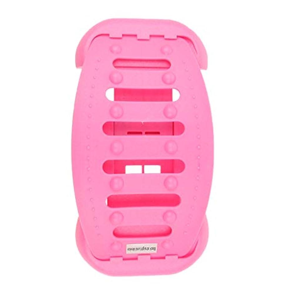 コンテスト挑発する縮約バックストレッチャー 背中 ストレッチャー ストレッチ装置 サポート 高重量容量 全2色 - ピンク