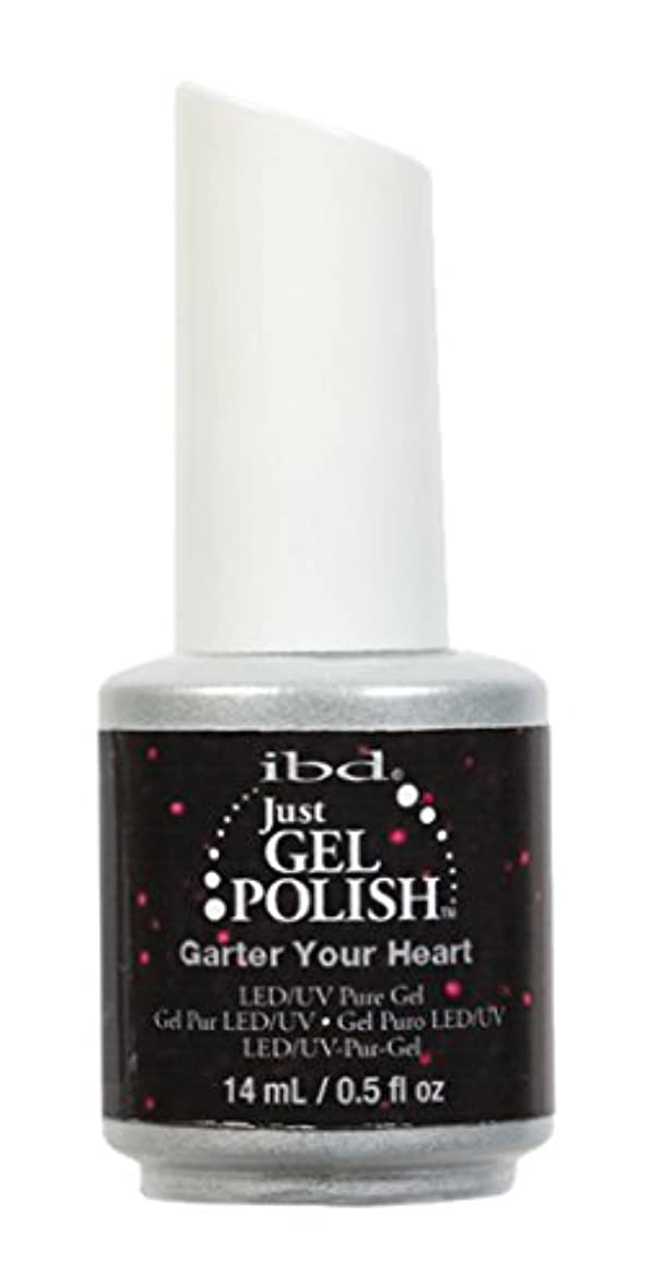 ハンカチブランク偶然のibd Just Gel Nail Polish - Garter Your Heart - 14ml / 0.5oz
