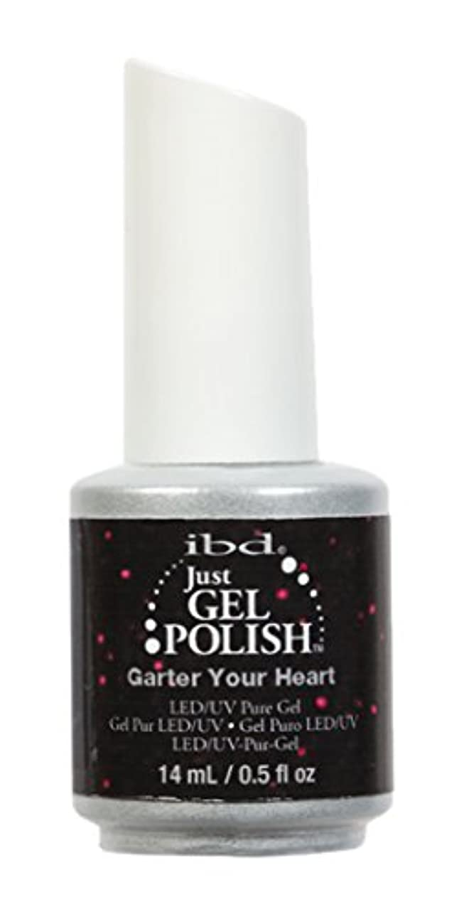 傾向四半期平凡ibd Just Gel Nail Polish - Garter Your Heart - 14ml / 0.5oz