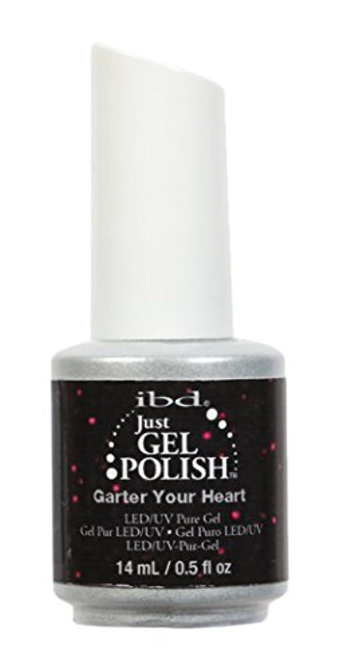 きらめく冊子出席するibd Just Gel Nail Polish - Garter Your Heart - 14ml / 0.5oz