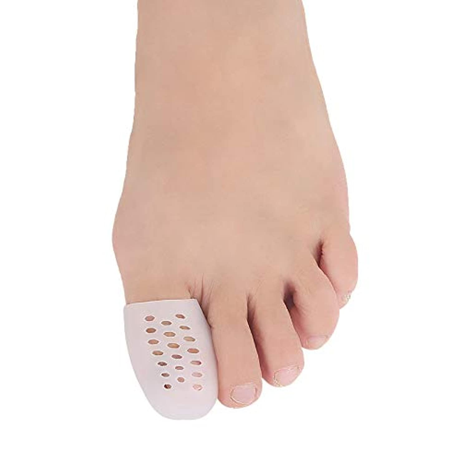 弱い鳴り響くペルソナZAYAR 足指保護キャップ 足先のつめ保護キャップ つま先プロテクター シリコン 趾痛み軽減