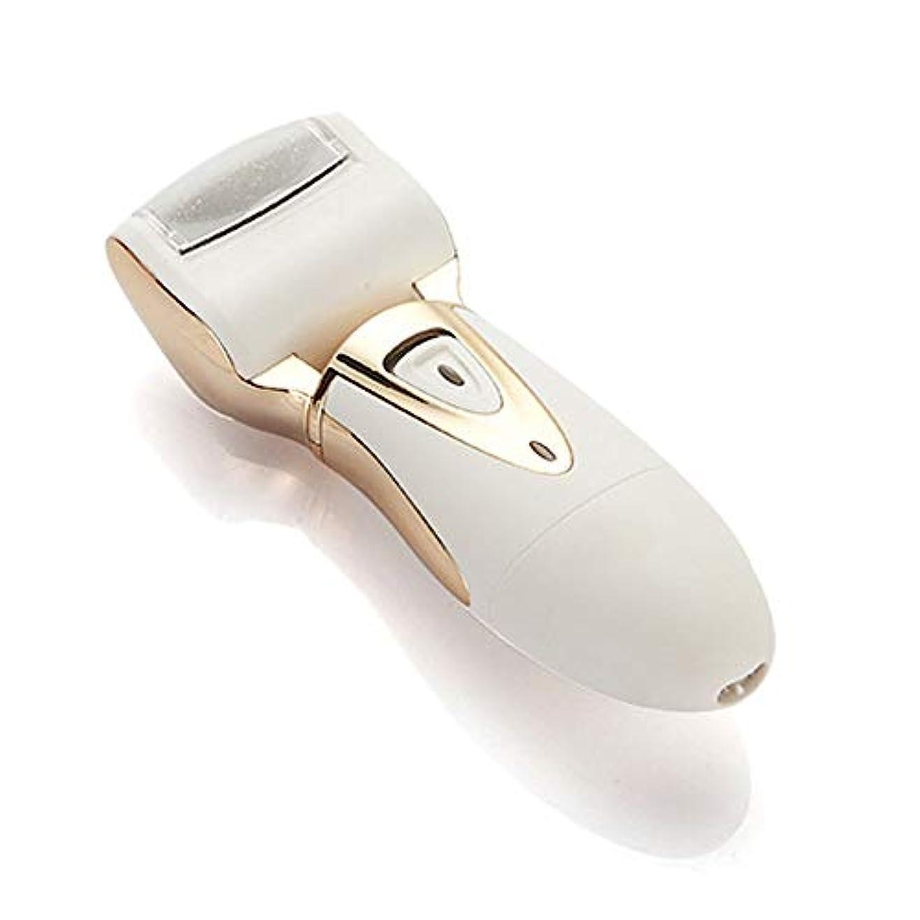 解決スロット噛むペディキュアツール電動フットファイル充電式デッドハードスキンリムーバー用プロの粗い足のお手入れウェット&ドライ防水 ペディキュアツール (色 : ゴールド, サイズ : Free size)