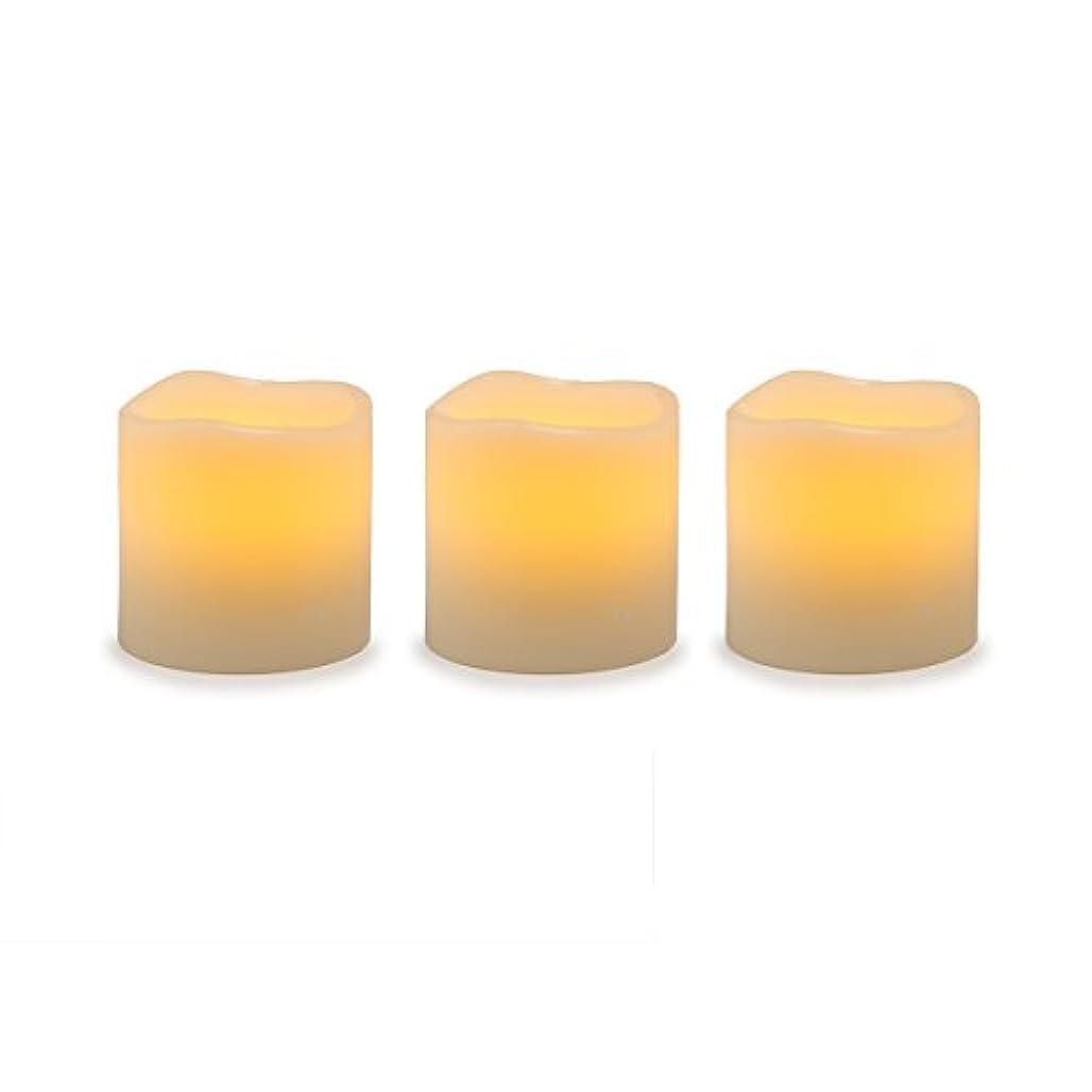 風が強い鉛筆借りているDarice電池式LED Pillar Candleセット、3ピース