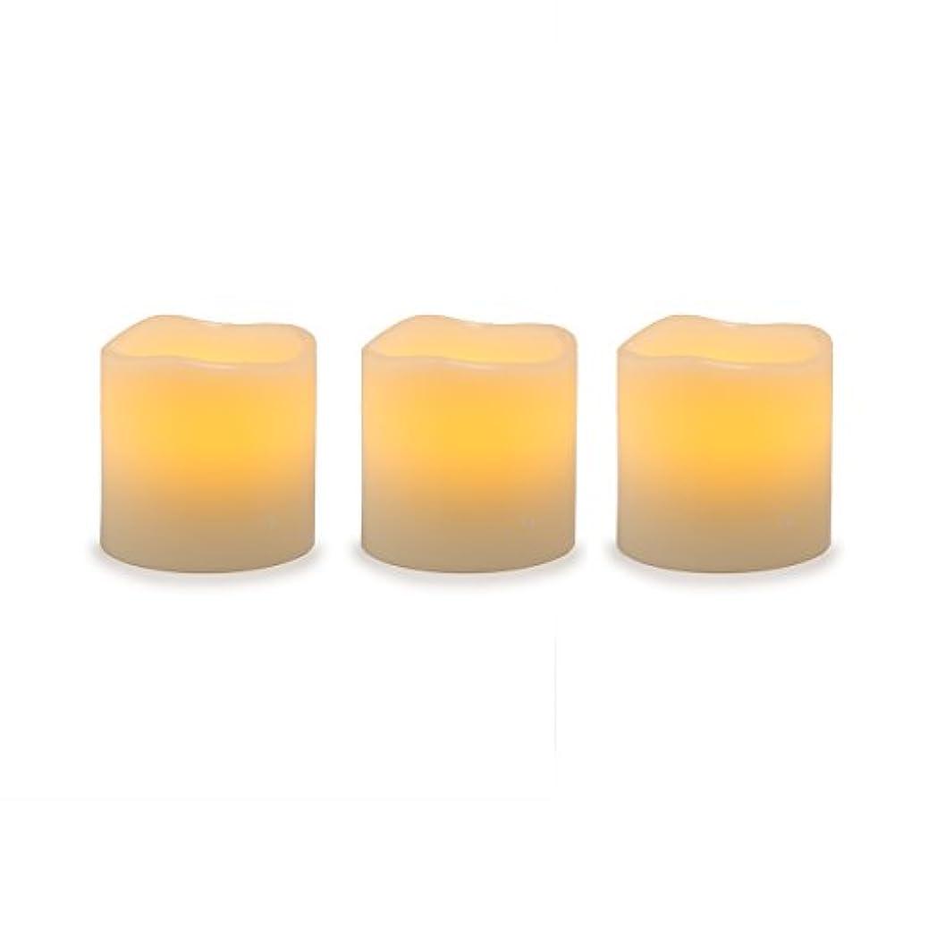 固体神話建物Darice電池式LED Pillar Candleセット、3ピース