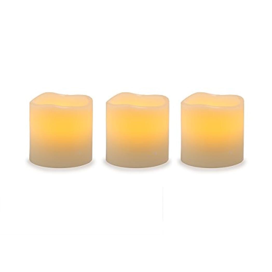 無駄だ凍った毛布Darice電池式LED Pillar Candleセット、3ピース