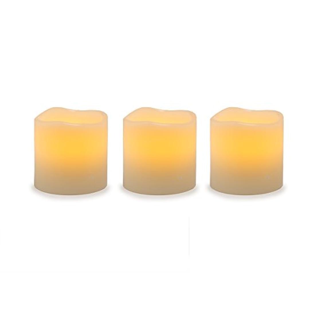 精神請うキャンプDarice電池式LED Pillar Candleセット、3ピース