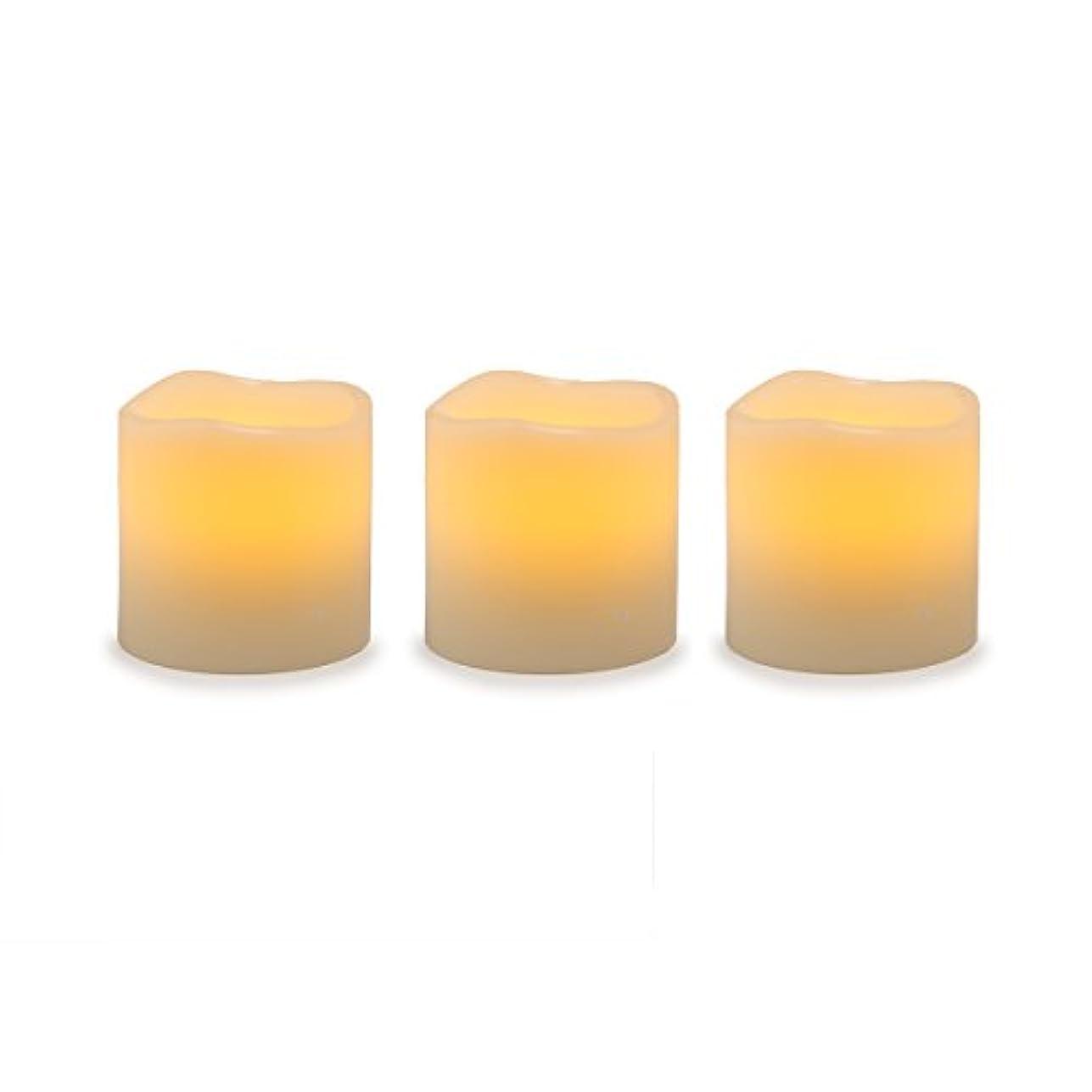 引っ張る寝てるマネージャーDarice電池式LED Pillar Candleセット、3ピース