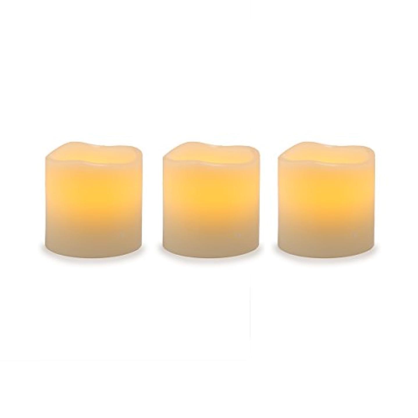 入り口先祖通貨Darice電池式LED Pillar Candleセット、3ピース