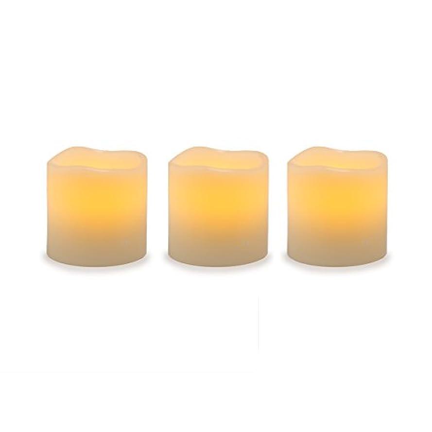 デザートベーコン罰Darice電池式LED Pillar Candleセット、3ピース