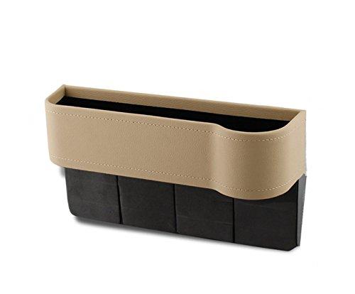 カップノッチ付き多機能カーシートギャップ収納ボックス(ベージ...