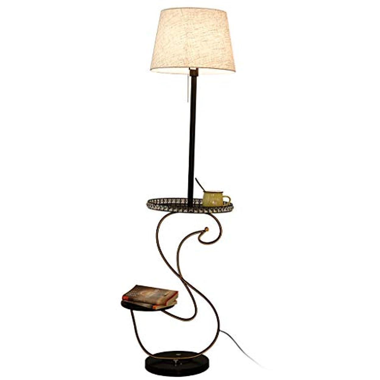 物足りない好きであるしょっぱいフロアスタンド リネンフロアランプ、創造的な目の保護を読書ベッドルームのベッドサイドテーブルランプ ホーム屋内照明フロアスタンド?ランプ