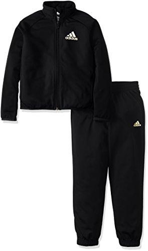 (アディダス)adidas トレーニングウェア ジャージ上下セット (ジョガーパンツ) AAW94 [ボーイズ] AAW94 BR1082 ブラック/マットゴールド J140