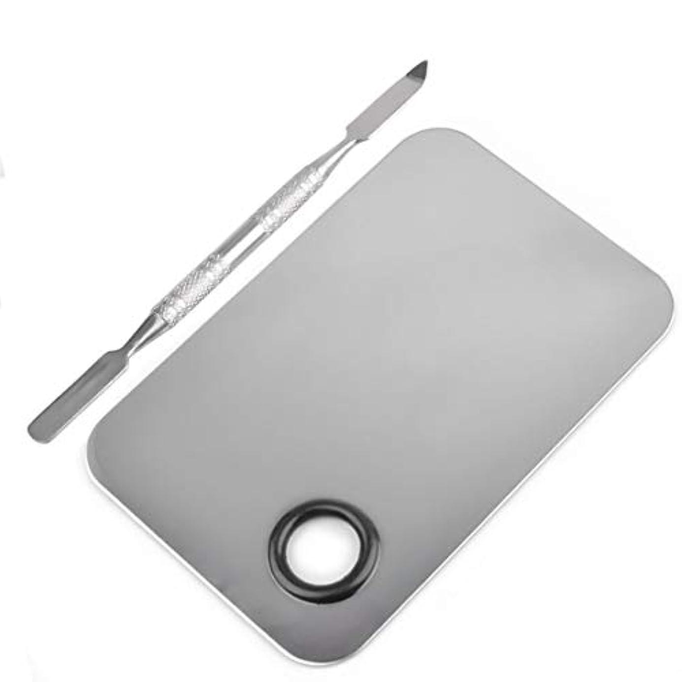 マウスピース被る寝室長方形の形のステンレス鋼化粧品メイクアップパレットへらツールセットネイルアート機器ツールキット美容ツール
