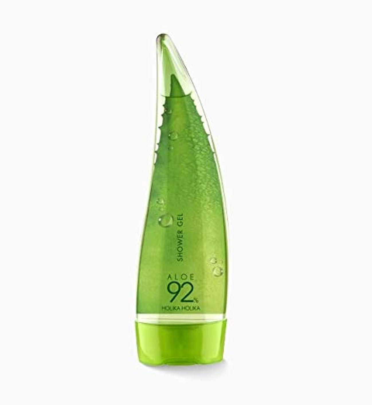 暴徒潮ポンペイ[holika holika] ALOE92% Shower Gel 250ml / [ホリカホリカ]アロエ92%シャワージェル250ml [並行輸入品]