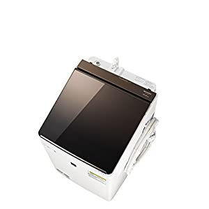 シャープ SHARP タテ型洗濯乾燥機 ガラストップ ダイヤカット穴なし槽 ブラウン系 ES-PT10C-T