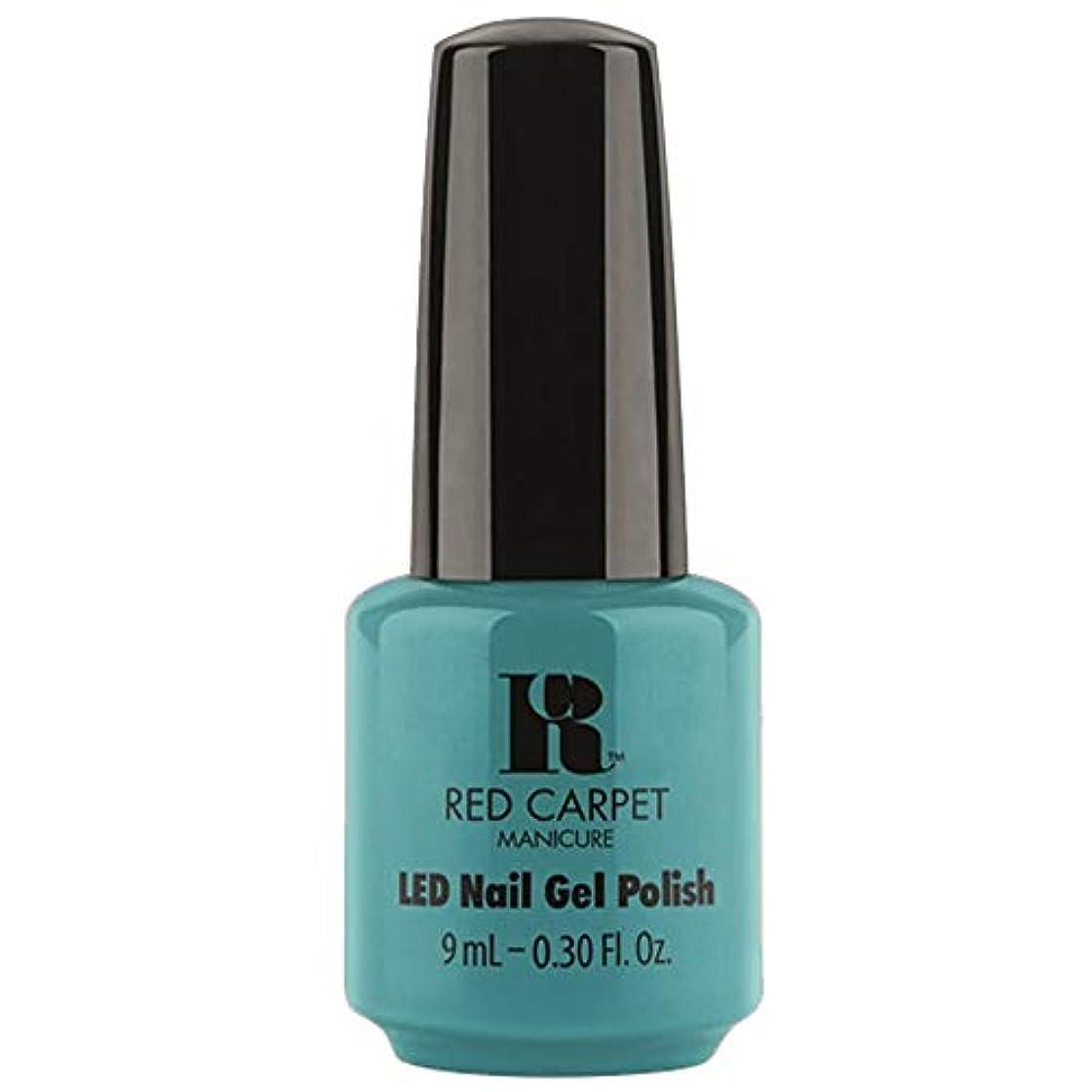 しっかりラメアコーRed Carpet Manicure - LED Nail Gel Polish - Poolside Fling - 0.3oz / 9ml