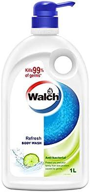 Walch Refresh Antibacterial Body Wash, 1000 milliliters