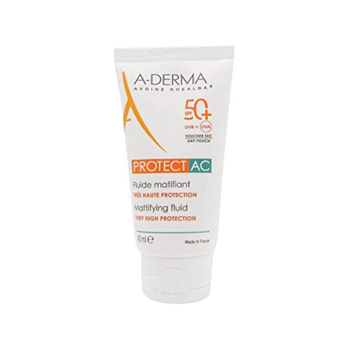 論理的に学校アラートA-Derma Protect AC Mattifying Fluid SPF50+ 40ml