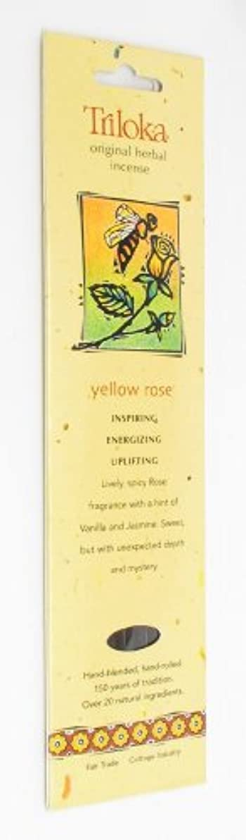 実質的にマングルアンタゴニストイエローローズ – Triloka元Herbal Incense Sticks