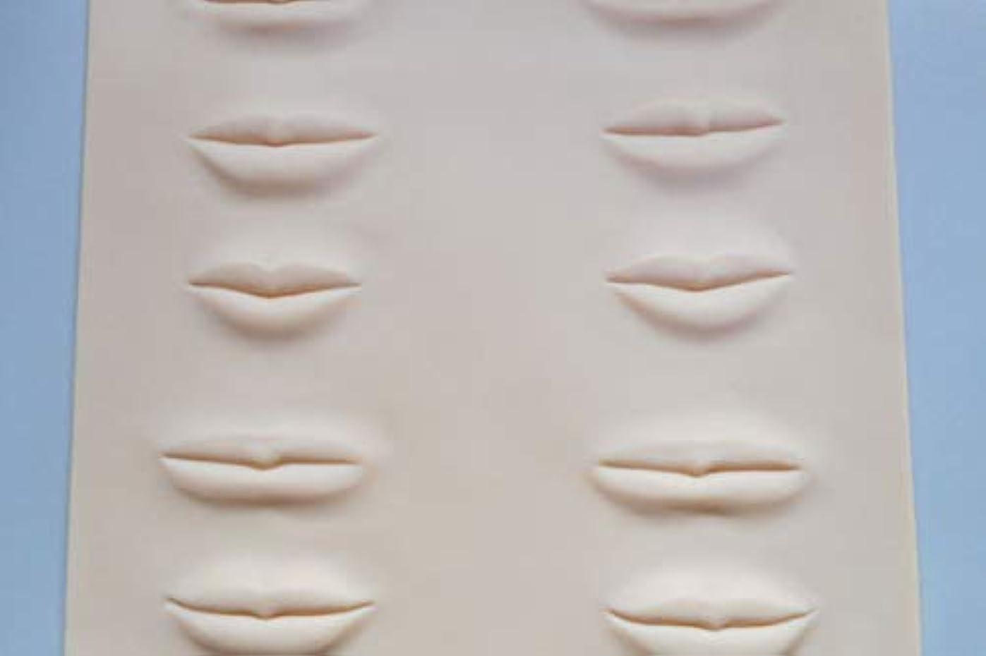 結婚した医学反抗アートメイク3D練習ラバー 唇 練習シート 2枚セット