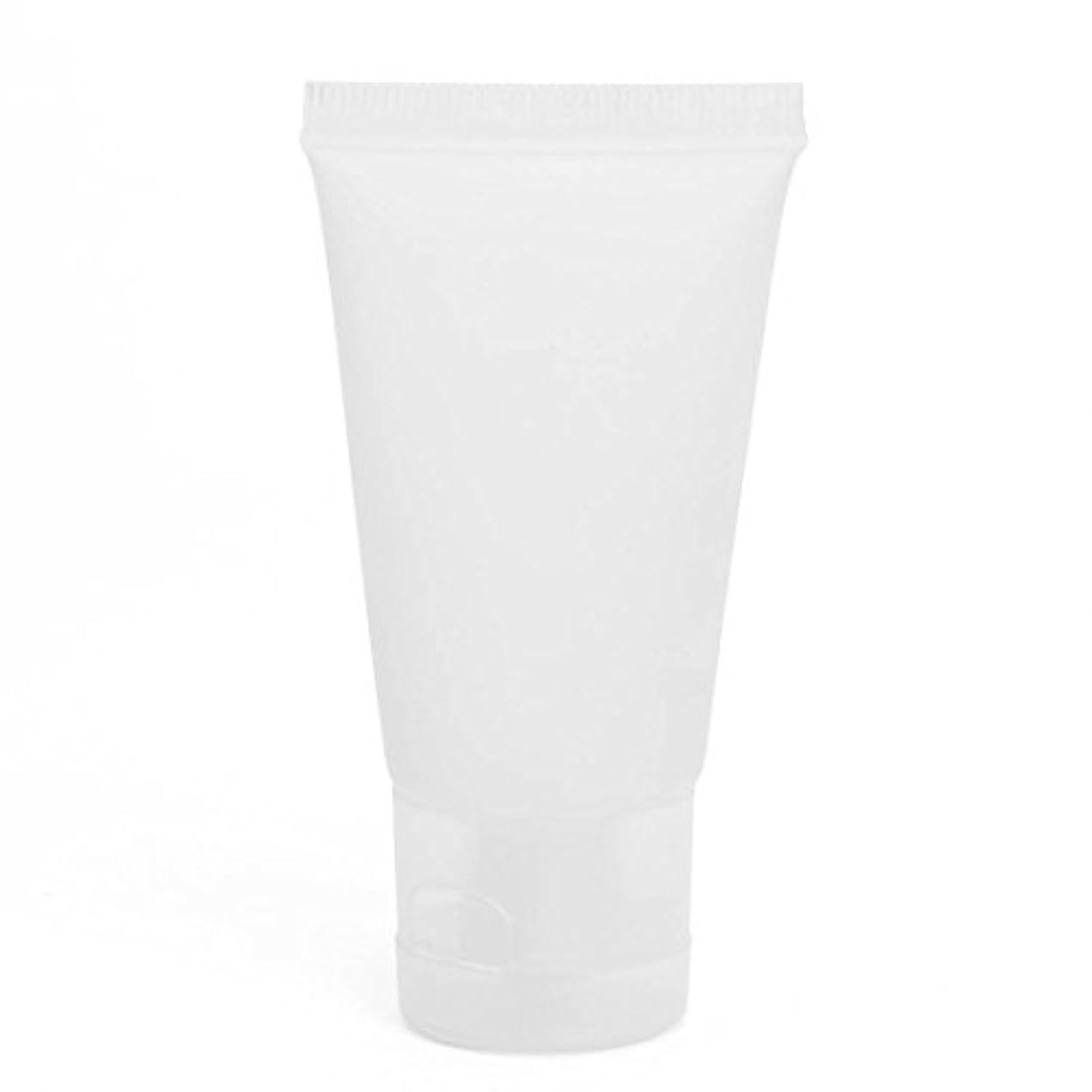 影響力のある枠ロッド空き瓶,SODIAL(R) 30 ml化粧品のための空きボトル 顔のクリーム プラスチック