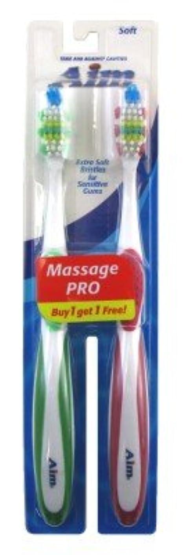 買う柔らかい足ストレスAim Toothbrush 2's Bogo Soft (並行輸入品)