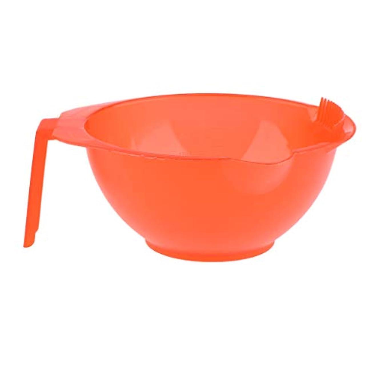 移住する認知タオルヘアカラーボール ヘアサロン ヘアダイミキシングボウル エッジ付き 5色選べ - 赤