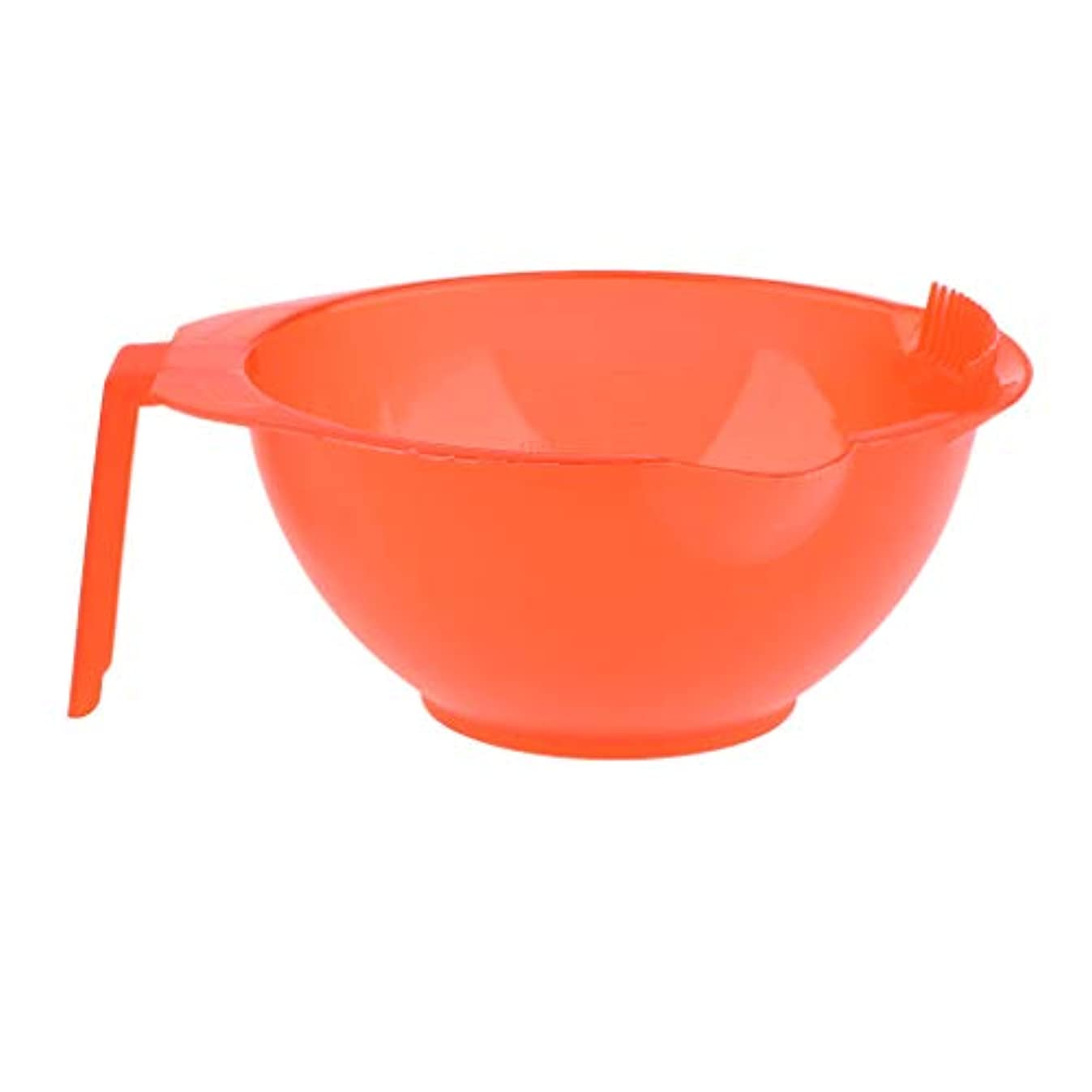 ウィンクバルーンメダリストヘアダイ ヘアカラー カップ 髪染め プラスチック製 家庭用 美容師 プロ用 5色選べ - 赤