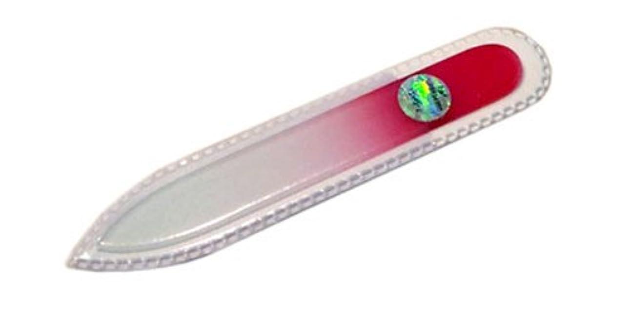 センター裏切るほのめかすブラジェク ガラス爪やすり 90mm 両面タイプ(ピンクグラデーション #07)
