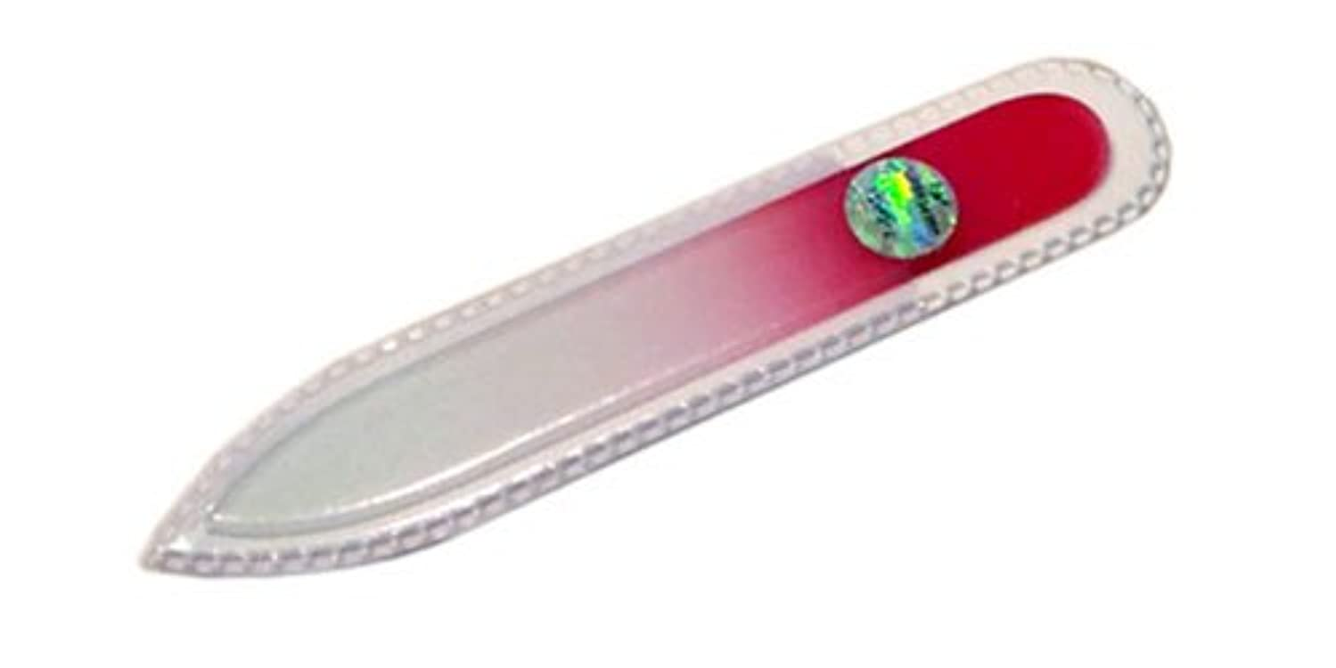 特許破産素人ブラジェク ガラス爪やすり 90mm 両面タイプ(ピンクグラデーション #07)