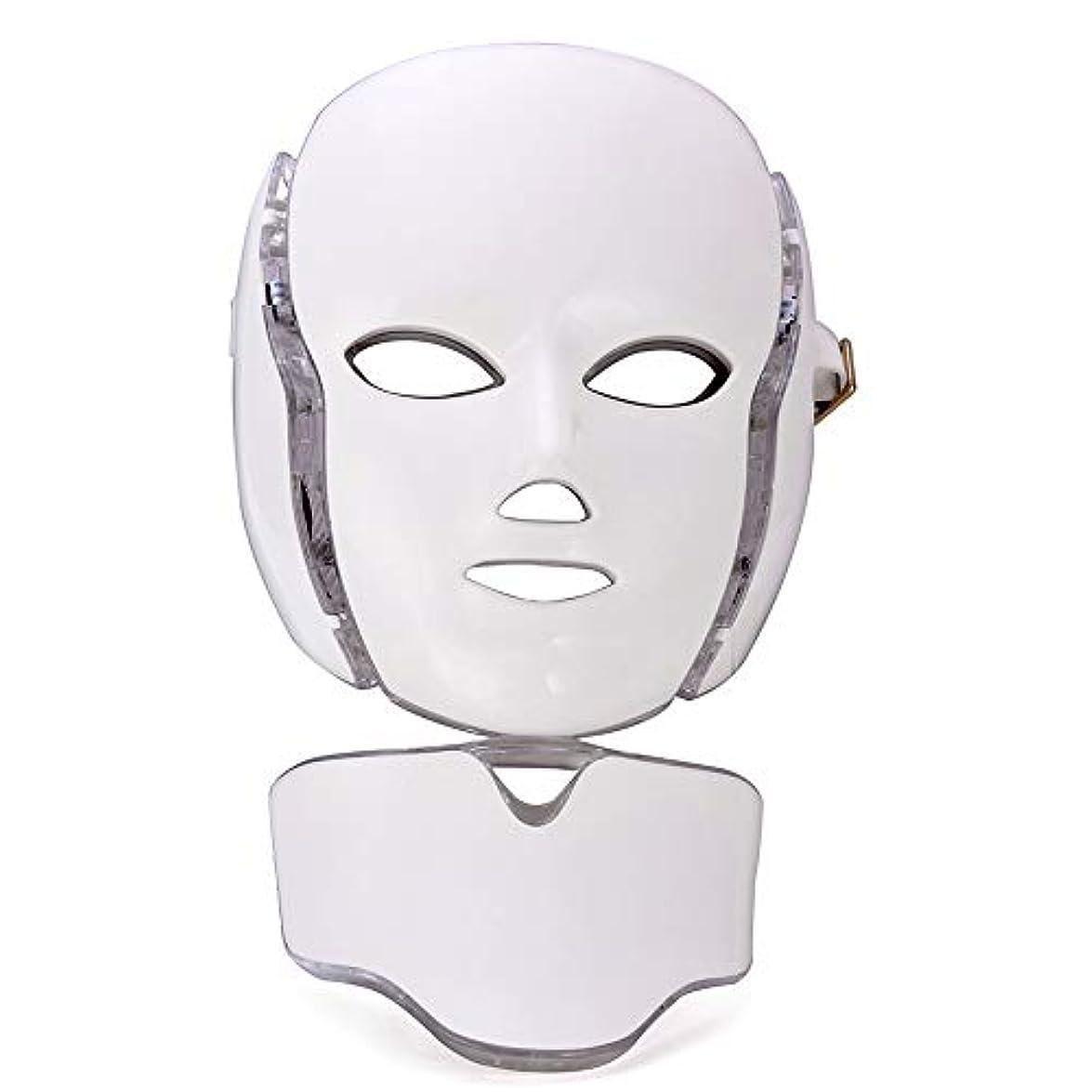 確立風刺つまずくLED フェイスマスク、顔の美しさスキンケアマスク光子療法のための皮膚若返り抗老化しわにきび健康肌若返りコラーゲン