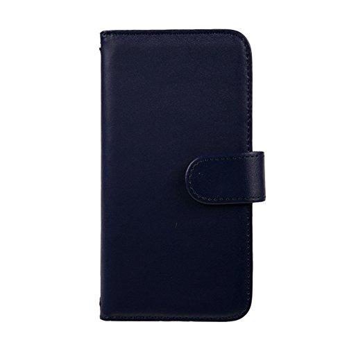 [スマ通] XPERIA X F5121 / F5122 スマホケース スマホカバー 携帯ケース 携帯カバー 手帳型 本革 ダークブルー SONY ソニー エクスペリア エックス SIMフリー 海外端末