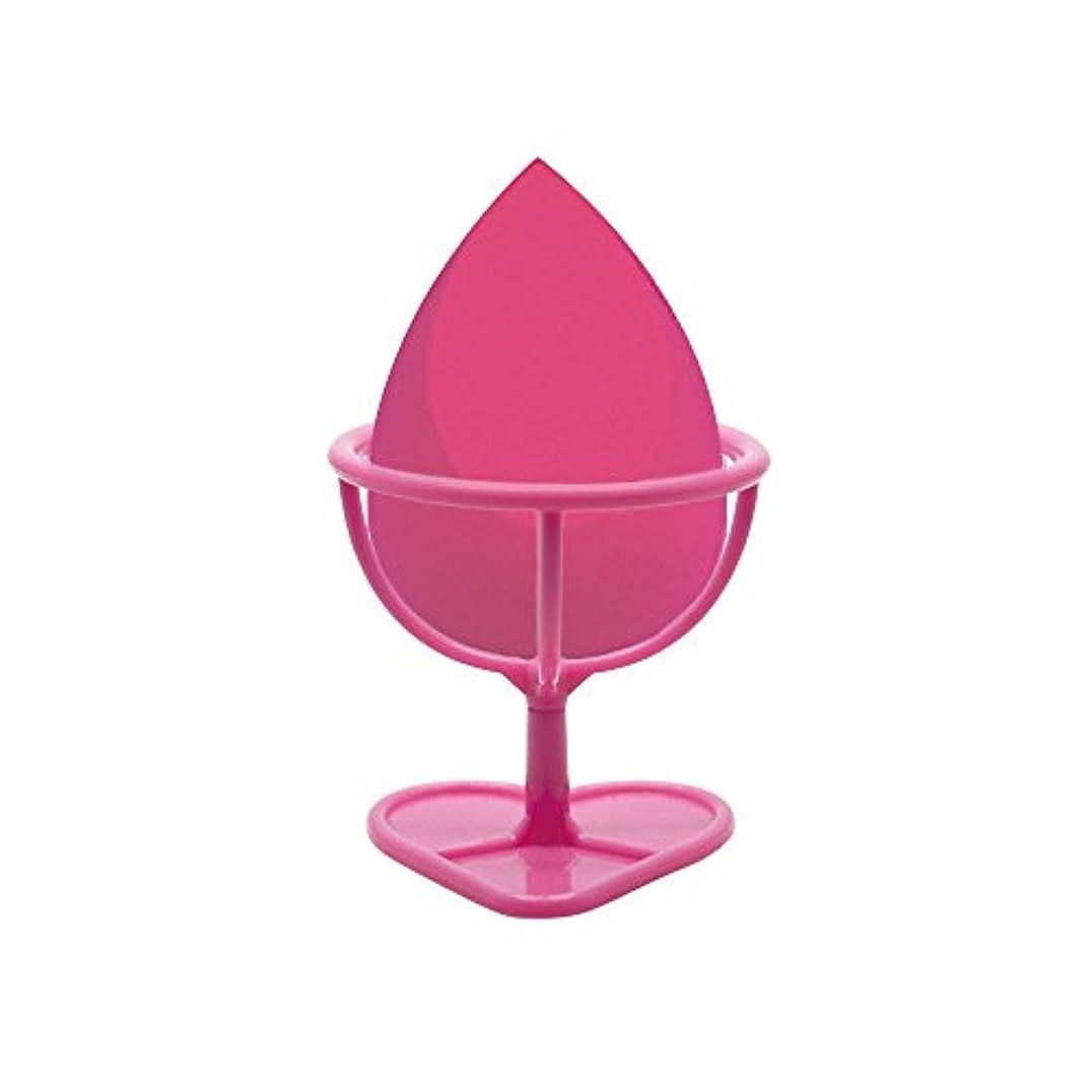 特異なメッシュ早いHeybeauty メイクスポンジ 斜めカット?卵型 化粧パフ ボックス付き パフ乾燥用スタンド付き ローズレッド