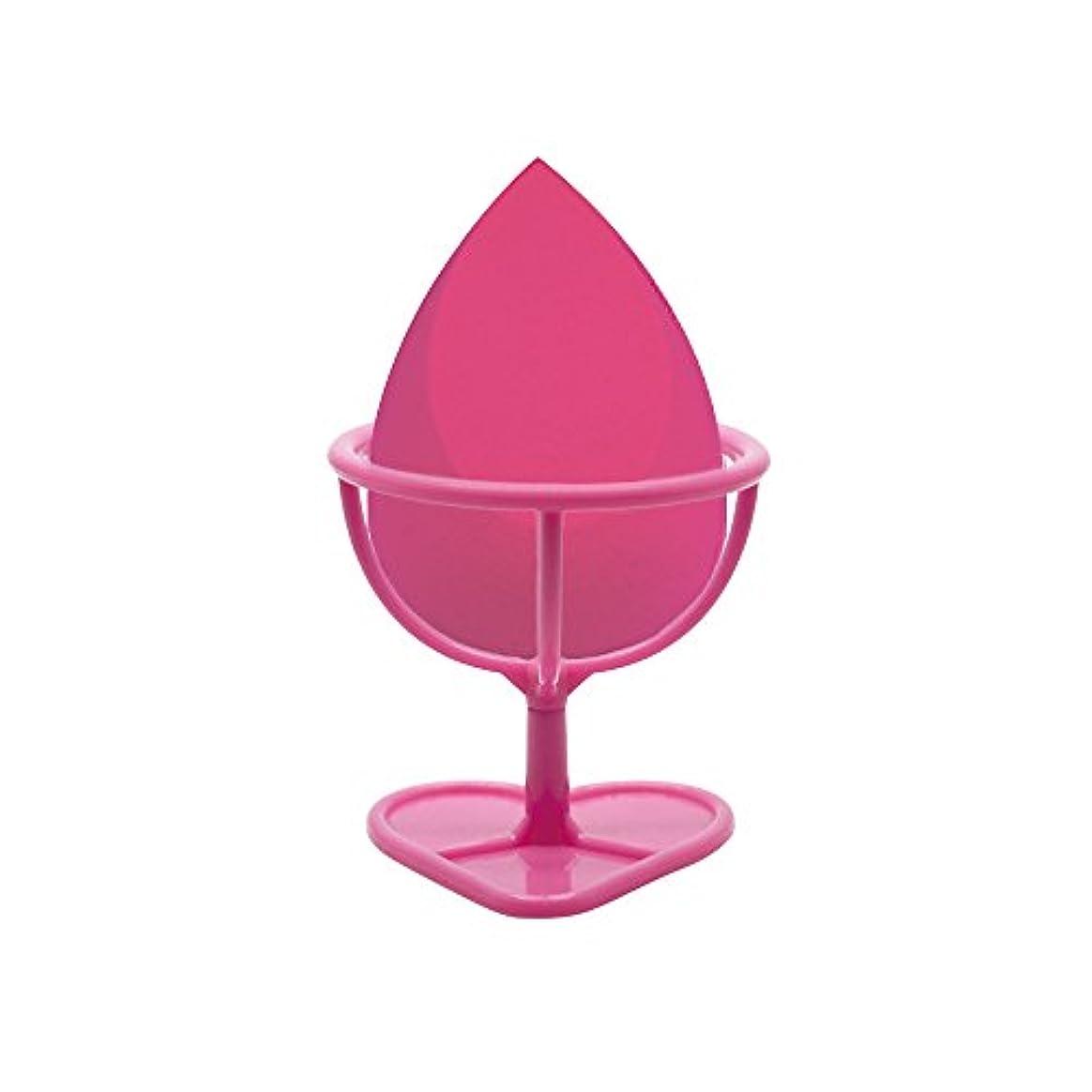 意気消沈したお金ゴムいうHeybeauty メイクスポンジ 斜めカット?卵型 化粧パフ ボックス付き パフ乾燥用スタンド付き ローズレッド