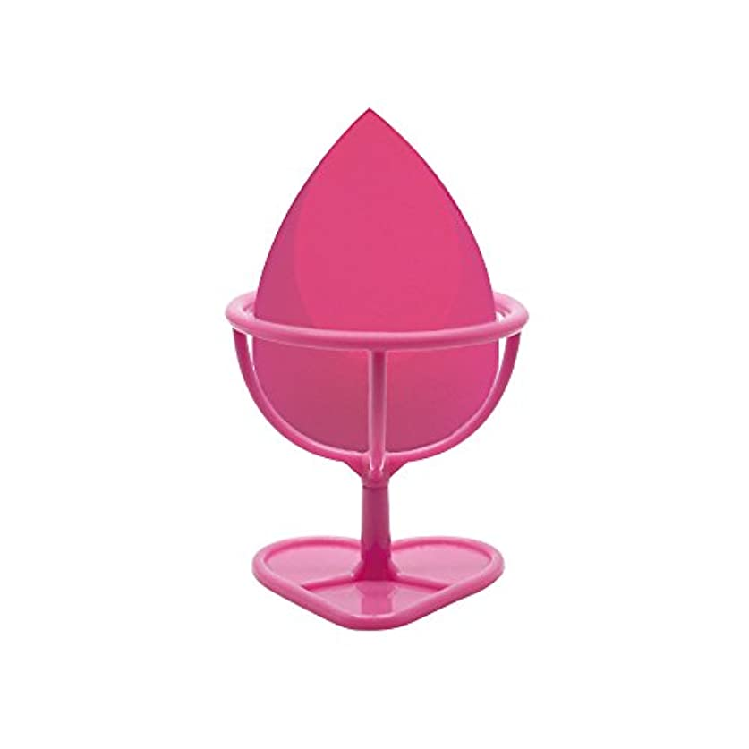 浮くしゃがむステーキHeybeauty メイクスポンジ 斜めカット?卵型 化粧パフ ボックス付き パフ乾燥用スタンド付き ローズレッド