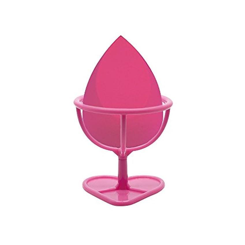 ドロー農場Heybeauty メイクスポンジ 斜めカット?卵型 化粧パフ ボックス付き パフ乾燥用スタンド付き ローズレッド