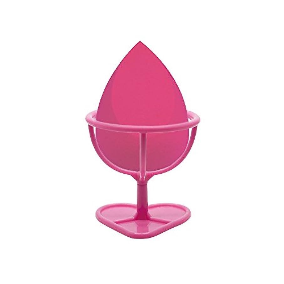 フェローシップチャーミング瞳Heybeauty メイクスポンジ 斜めカット?卵型 化粧パフ ボックス付き パフ乾燥用スタンド付き ローズレッド