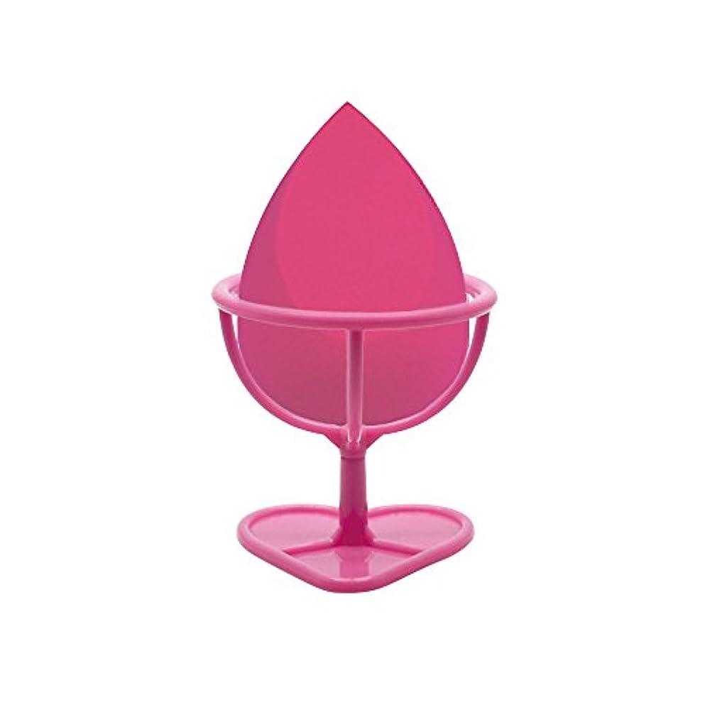 バンドル発火するマーキングHeybeauty メイクスポンジ 斜めカット?卵型 化粧パフ ボックス付き パフ乾燥用スタンド付き ローズレッド